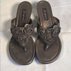 Brighton Laurel Thong Leather Sandals